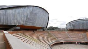 观众席Parco della Musica罗马,意大利 股票录像