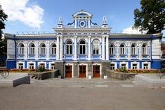 年轻观众的剧院。俄罗斯。电烫。 库存照片