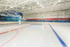 观众的论坛在冰宫殿在保加利亚, Kranevo 库存图片