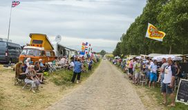 观众-环法自行车赛2015年 库存照片