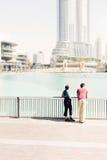 观光在迪拜的游人 免版税图库摄影