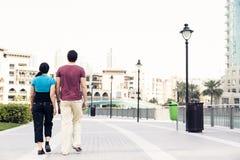观光在迪拜的游人 免版税库存照片