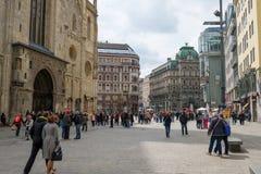 观光在维也纳 库存照片