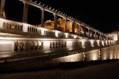 观光的夜-布达城堡 免版税图库摄影
