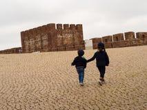 观光的孩子 免版税库存照片