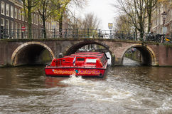 观光的小船阿姆斯特丹 库存照片