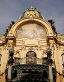 观光的布拉格:老市政房子地标 库存图片