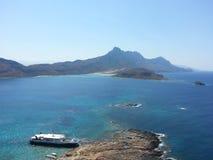 观光的格拉姆武萨群岛-的Balos 免版税库存图片