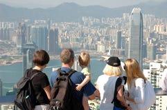 观光famly的香港 图库摄影