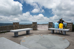 观察台米切尔峰北卡罗来纳 库存图片