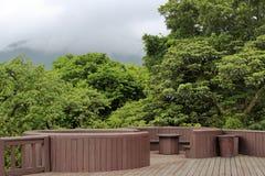 观察平台yangmingshan (yangming的山),台北 免版税图库摄影