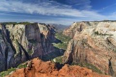 从观察点的锡安峡谷 库存图片