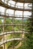 观测塔(Baumwipfelpfad) 库存照片