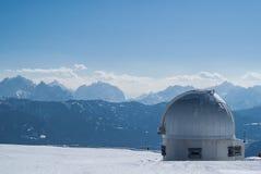 观测所在奥地利阿尔卑斯 库存照片