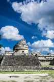 观测所或El在奇琴伊察考古学站点的Caracol在墨西哥 免版税图库摄影