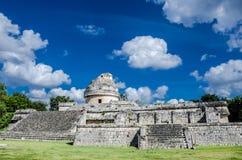 观测所或El在奇琴伊察考古学站点的Caracol在墨西哥 免版税库存照片