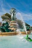 观测所的喷泉,卢森堡庭院 免版税库存图片