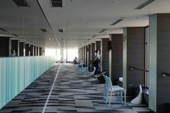 观测所的里面看法WTC的Buiding,东京 免版税库存照片
