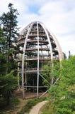 观测所顶部结构树结构 库存照片