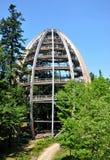 观测所顶部结构树结构 图库摄影