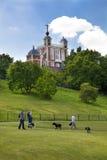 观测所,在伦敦南部的老英国公园 免版税库存照片
