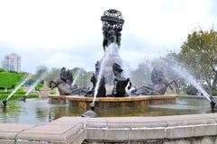 观测所,法国的喷泉 库存照片
