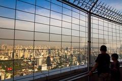 观点在从Bayok天空摩天大楼的曼谷 免版税库存图片
