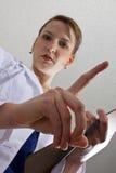 观点的从河床的一位医生或护士 免版税图库摄影