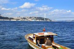 观点的伊斯坦布尔的欧洲边从Bosphorus的 免版税库存图片