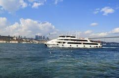 观点的伊斯坦布尔的欧洲边从Bosphorus的 库存图片