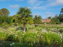 观点的公主戴安娜Memorial Garden在肯辛顿宫殿叫White Garden在伦敦在一个晴天 免版税库存照片