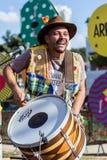 观点的典型brasilian的人, Junina党 免版税库存照片