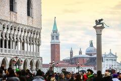观点的圣从圣Marco广场的乔治Maggiore 免版税库存图片