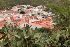 观点的圣Bartolome de Tirajana canaria gran 免版税库存照片