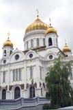 观点的基督救主教会在莫斯科,俄罗斯 图库摄影
