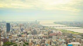 观点的大阪的西北边 库存图片
