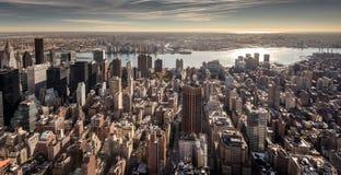 观点的曼哈顿的更低的东边 免版税库存图片