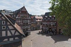 观点的柯尼希阿道夫普拉茨,黑森,德国 免版税库存图片