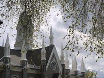 观点的盐湖礼堂,盐湖城,犹他 库存图片