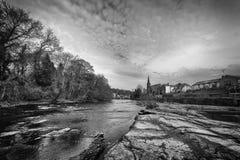 观点的从河的兰戈伦 免版税图库摄影