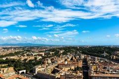观点的Basilica di圣彼得罗在Vaticano 库存图片