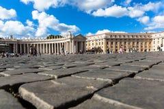 观点的Basilica di圣彼得罗在Vaticano 库存照片