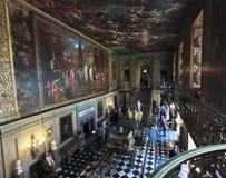观点的Chatsworth被绘的霍尔,英国 库存照片