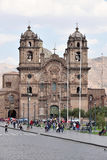 观点的Iglesia de la Compania德赫苏斯在库斯科 库存照片
