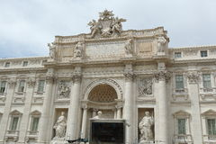 观点的Palazzo勃利在罗马,意大利 免版税库存图片