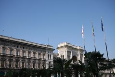 观点的Piazza del Duomo和圆顶场所维托里奥Emanuele 库存图片