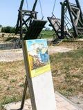 观点的Pont凡高在阿尔勒,法国 库存图片