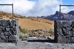观点,山区,泰德峰,特内里费岛 免版税库存照片