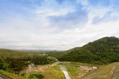 观点水库 或者自然和小山 1 图库摄影
