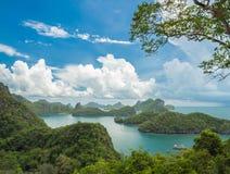 观点Mue酸值Angthong国家公园,苏梅岛 免版税库存图片